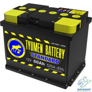 Автомобильный аккумулятор Tyumen Battery Standart 60L в Омске